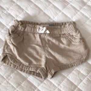 Old Navy tan khaki pull on shorts 3T girls kids